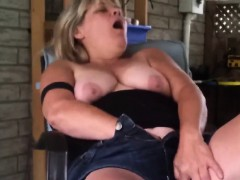 Fat Mature Woman Playing...