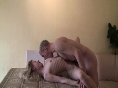 Super-skinny girl fucked by...