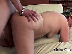 Mature Blonde Sucks Juices...